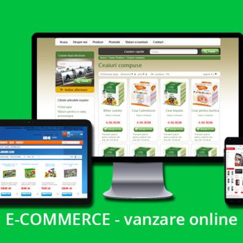 e-commerce cu text