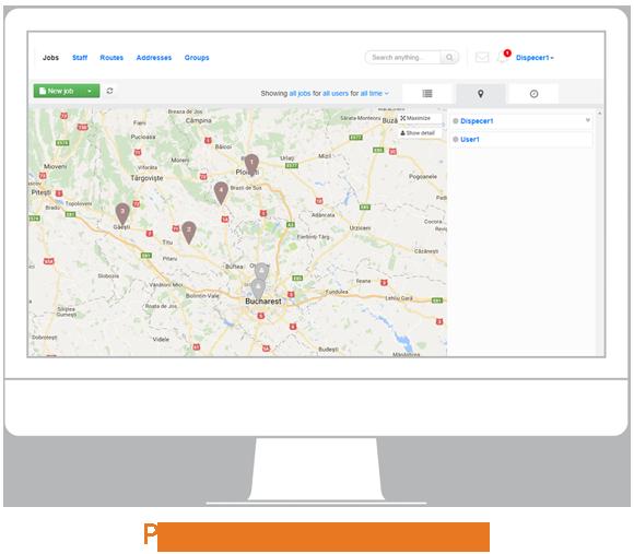 navigatie gps pozitia resurselor pe harta