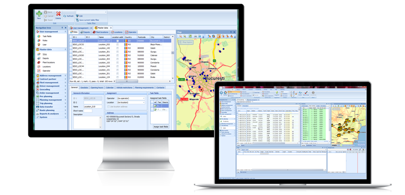 software transport planificare rute transport