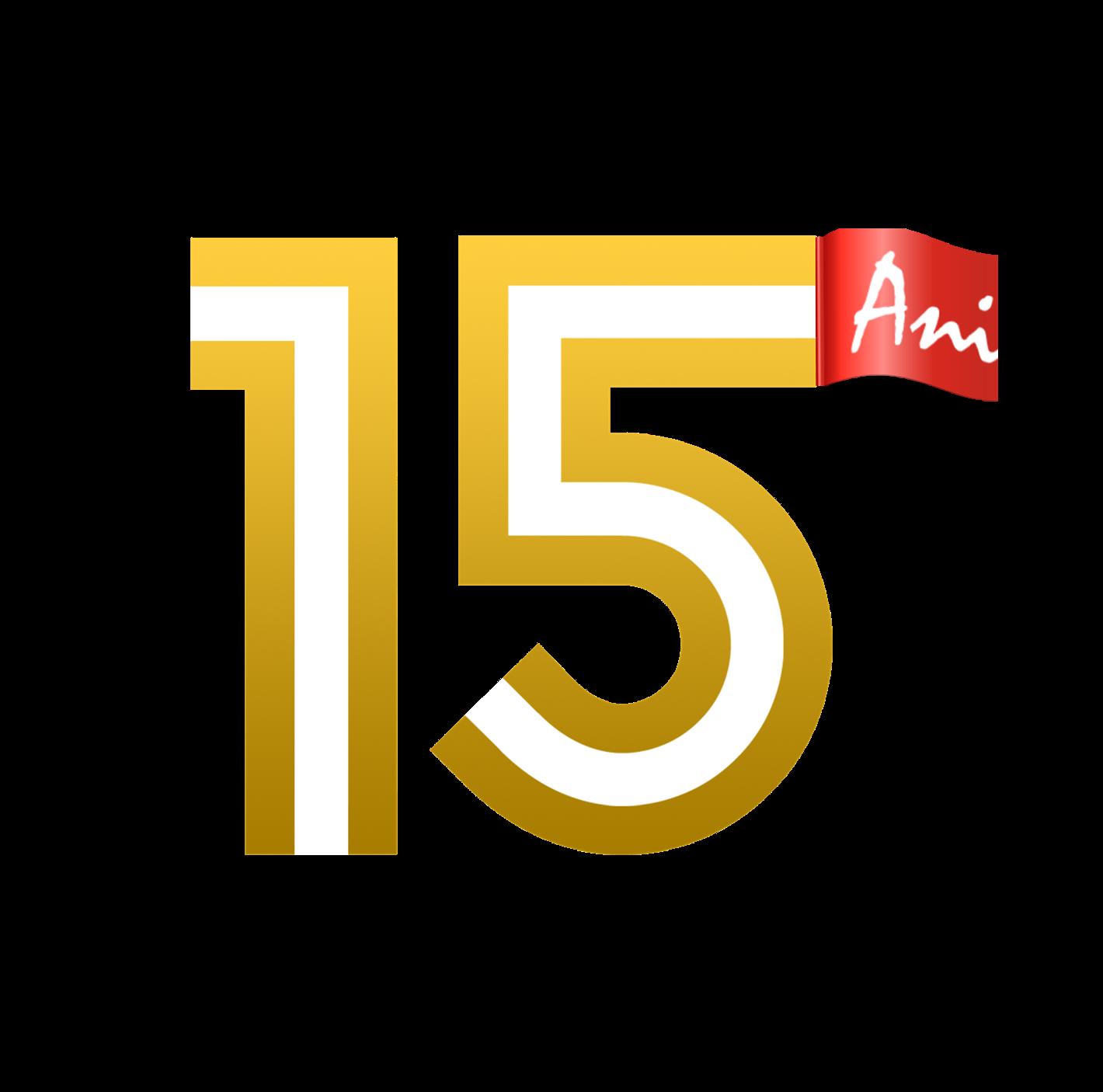 Logo aniversare 15 ani