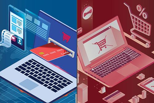 Infografic - magazin online automatizat versus o afacere neautomatizata resurse