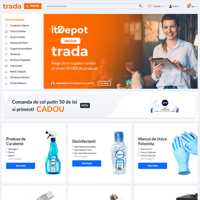 trada marketplace beneficii magazin online