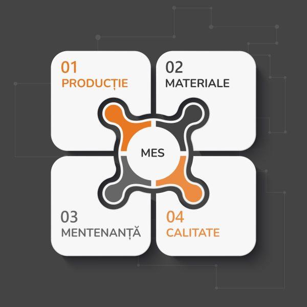 Componentele solutiei pentru Managementul Productiei schema v1
