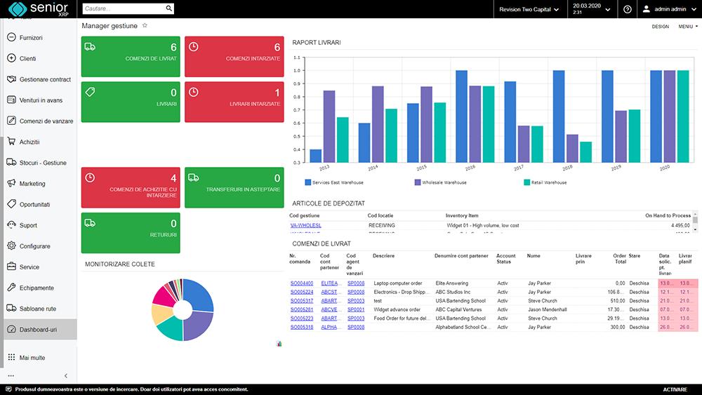 erp distributie crm wms screenshot aplicatie sistem romanesc